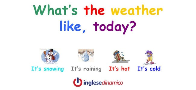 Tempo atmosferico in inglese: Vediamo come
