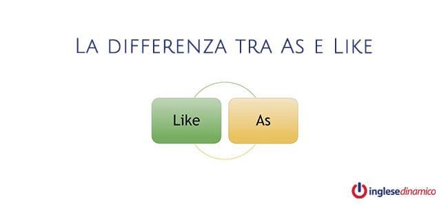 La differenza tra As e Like: Vediamola