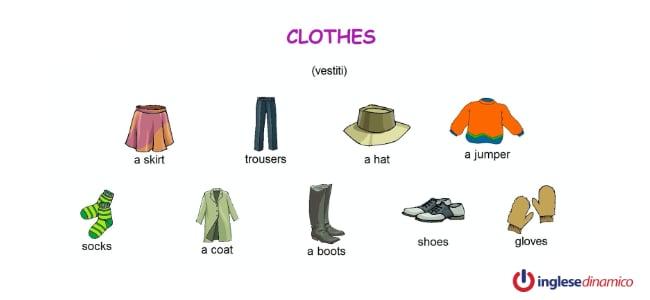 Come descrivere i vestiti in inglese