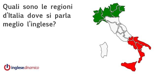 Le regioni italiane e l'inglese